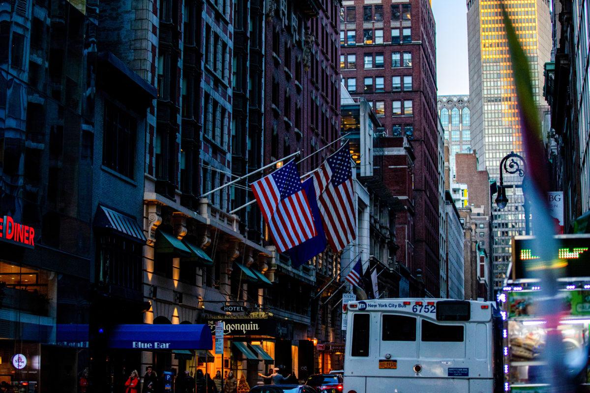 アメリカの街並み